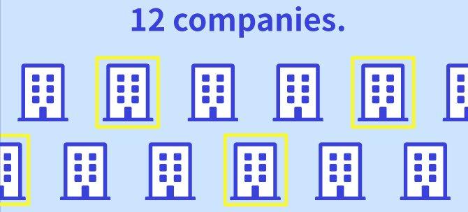 12 companies.